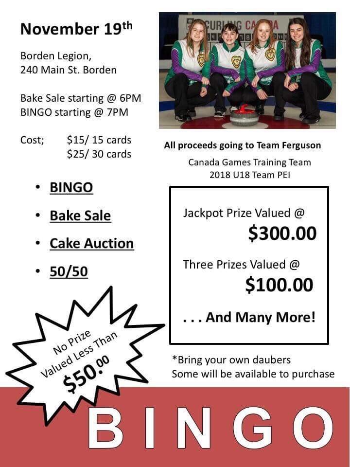 Bingo! Team Ferguson Fundraiser this (Monday) evening