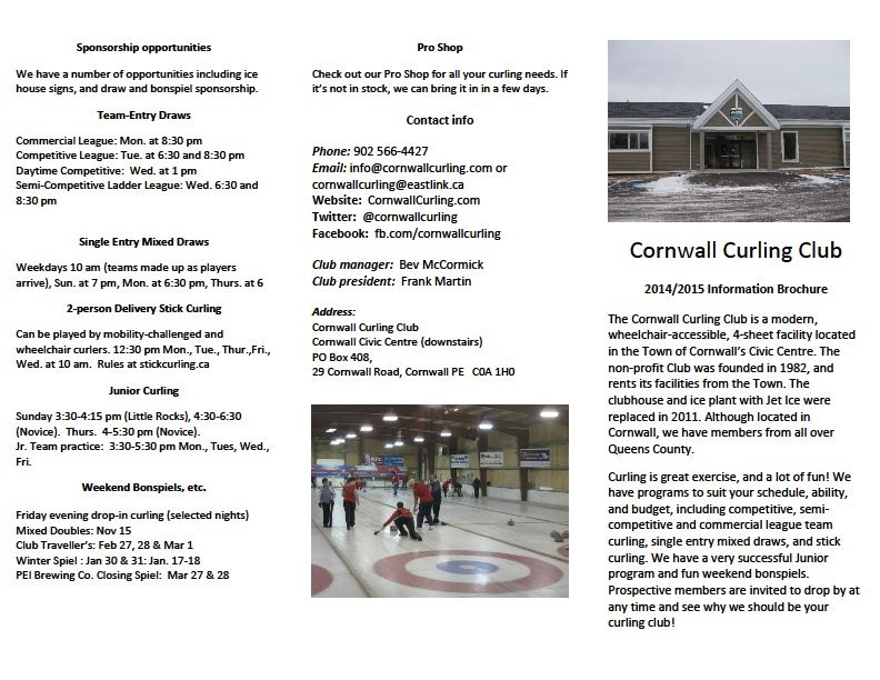 Print out our Club brochure!