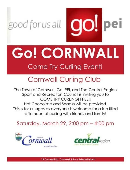 Come Try Curling for free on Mar. 29 at the Cornwall Curling Club