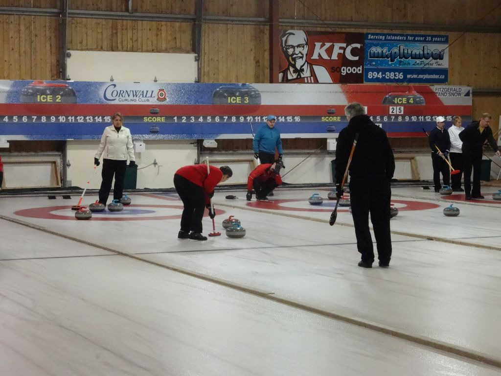 Mixed Doubles (Canada's new Olympic Gold Medal sport!) funspiel draw for Saturday