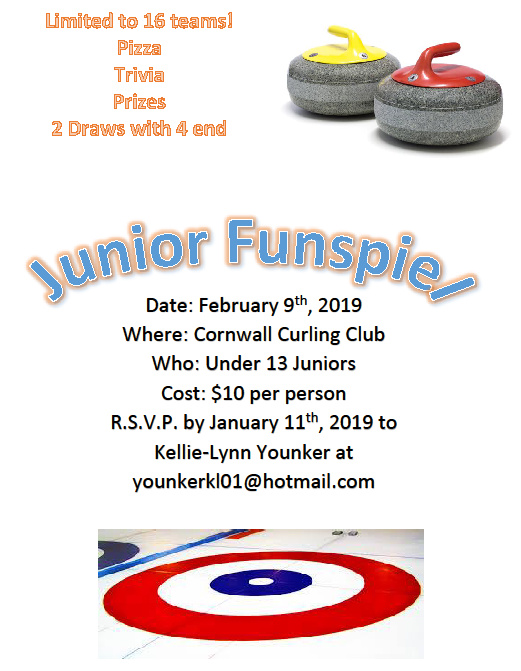 Reminder: U13 Junior Funspiel on Feb. 9 (open to all clubs). RSVP by Jan. 11