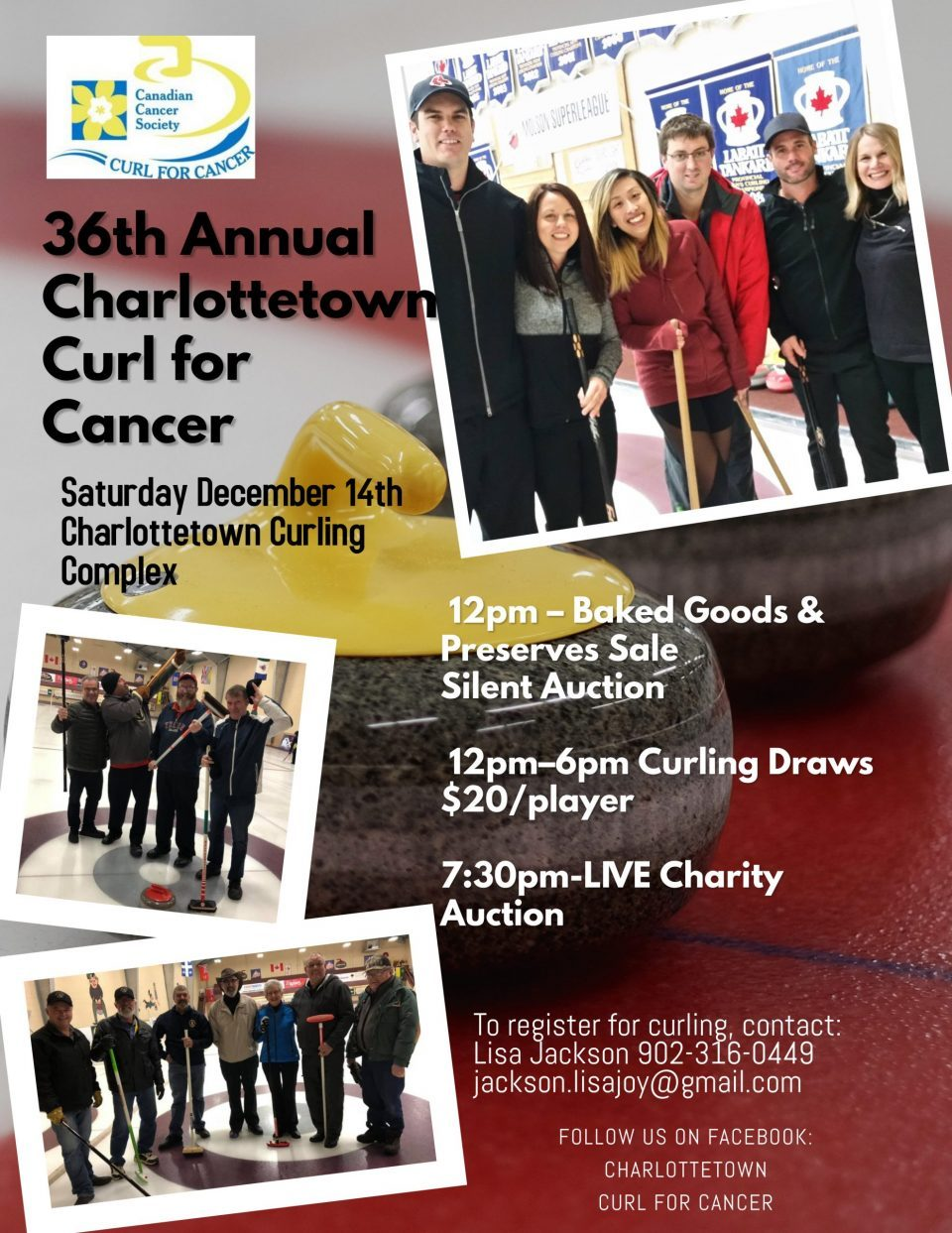 Cornwall teams Curl for Cancer at Ch'town on Sat.!