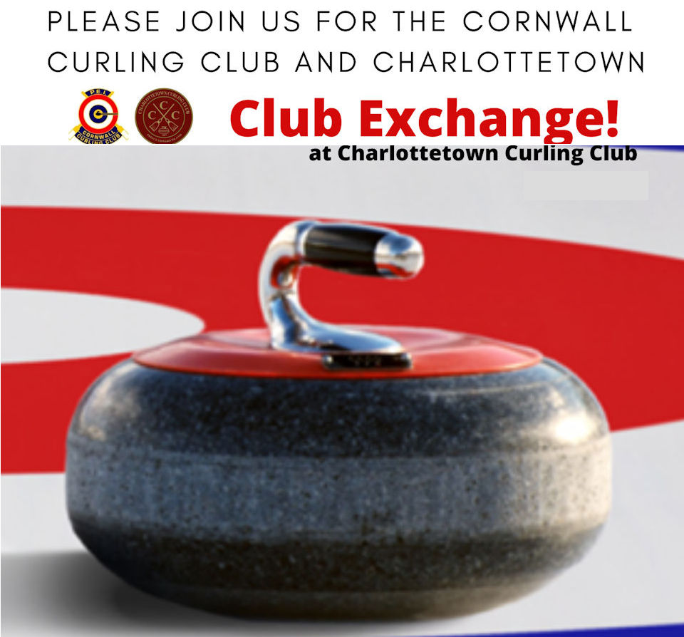 Reminder: Opening draws for Ch'town/Cornwall exchange spiel at Charlottetown on Tues. Feb. 11
